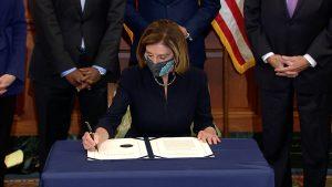 Speaker Pelosi signs impeachment